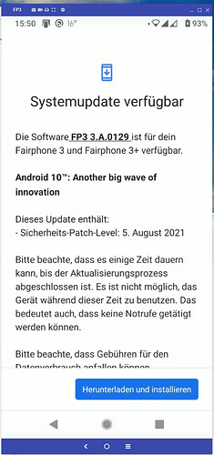 Update auf Level-2021-08-05