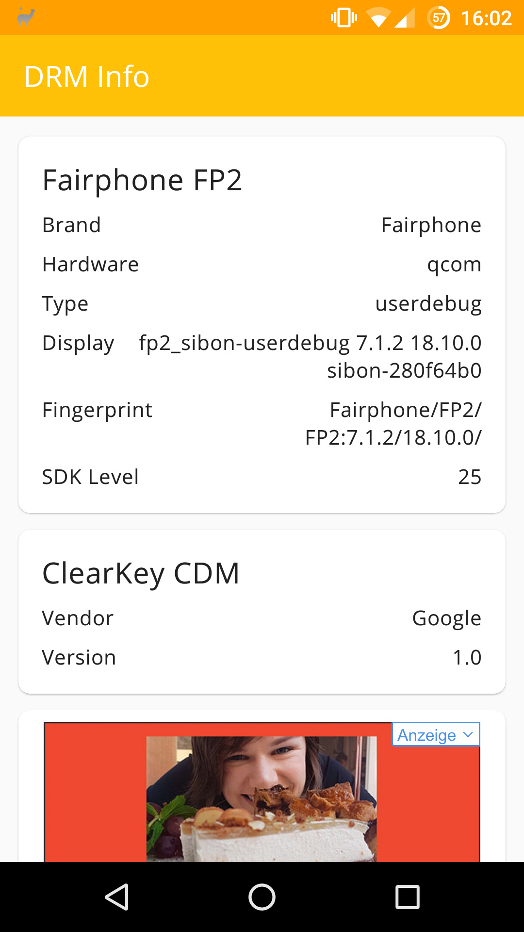 Widevine DRM is missing in Fairphone Open 18 10 0 (Android 7 1 2