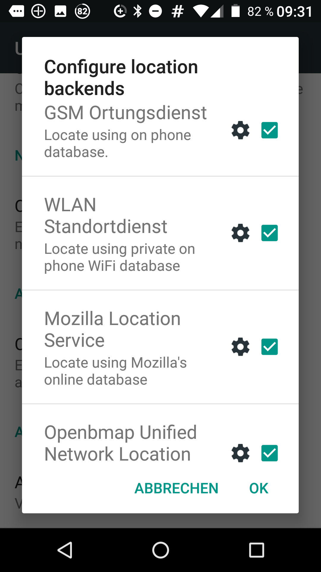 How to use network location under LineageOS (Android 7 1