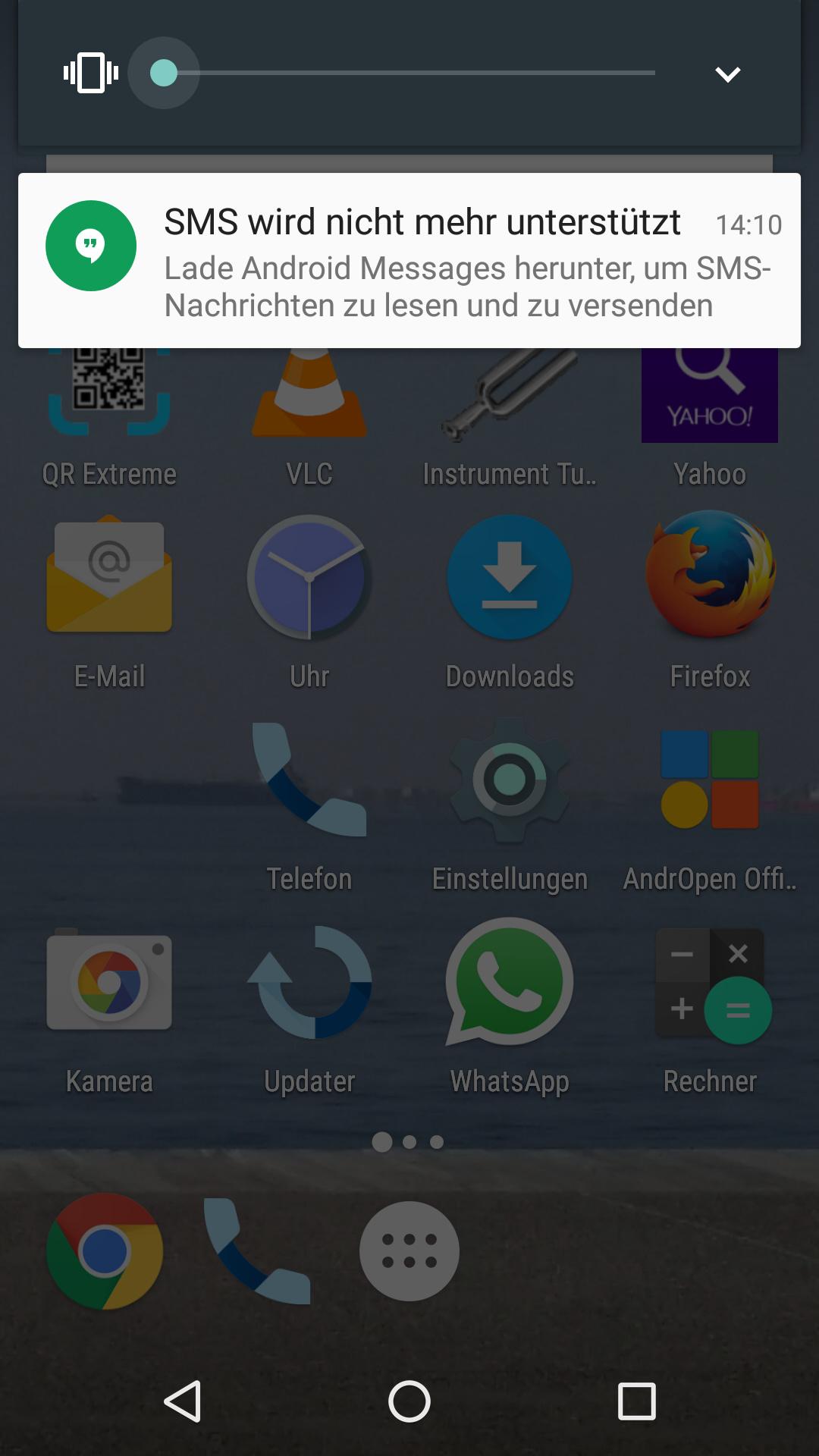 android update sms geht nicht mehr